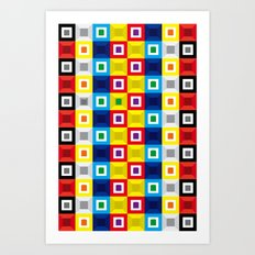 Squares Pattern Art Print