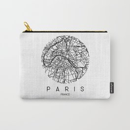 Paris Round Carry-All Pouch
