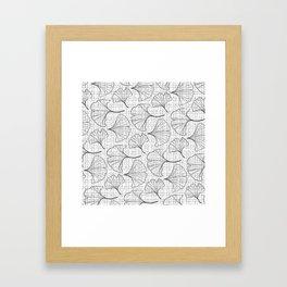 grid in black and petals Framed Art Print