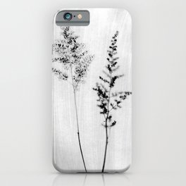 Delicate Black and White Botanical Photograph iPhone Case
