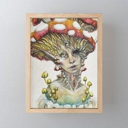 Mushroom Fairy Framed Mini Art Print