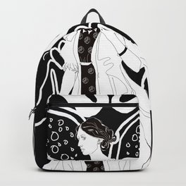 Virginia Woolf Art Nouveau Backpack