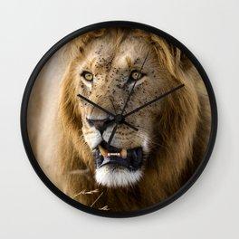 Lion, Masai Mara Wall Clock