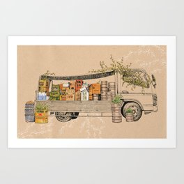 Green Invasion Art Print
