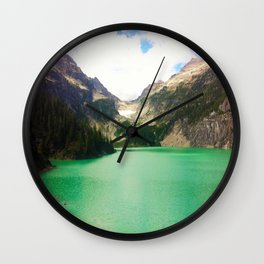 Turquoise Escape Wall Clock