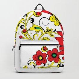 Floral hohloma Backpack