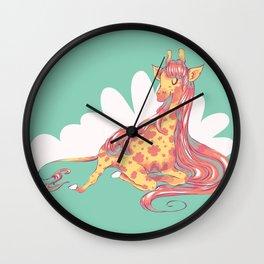 Lovely Giraffe 1 Wall Clock