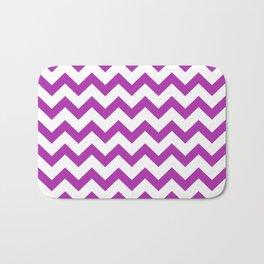 Chevron (Purple & White Pattern) Bath Mat