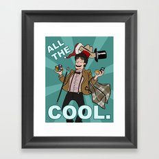 ALL THE COOL - Doctor Who Framed Art Print
