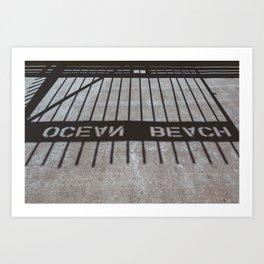 Ocean Beach Shadows Art Print