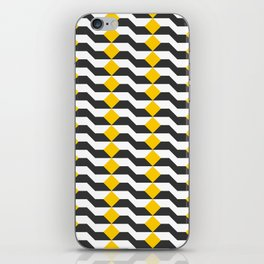 Tricolor Steps Yellow Black & White iPhone Skin