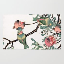 Pomegranate and Lovebirds Rug