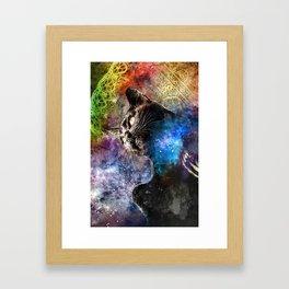 Interlacing Fabric of Light Framed Art Print