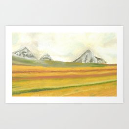 Oil Painting Mountains Art Print