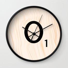 Scrabble Letter O - Large Scrabble Tiles Wall Clock