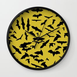 Bats Ceylon Yellow Wall Clock