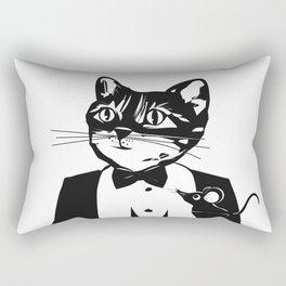 Cat in a dinner jacket Rectangular Pillow