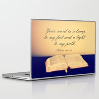 bible verse Laptop & iPad Skins featuring Bible  by Jo Bekah Photography