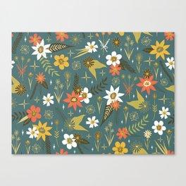 bright fun floral pattern Canvas Print
