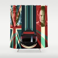 rush Shower Curtains featuring Rush by milanova