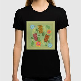 Bamboo Tiki Room Pattern T-shirt