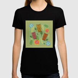 Bamboo Tiki Room Pattern T-shirt