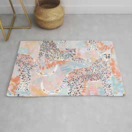 Colorful Wild Cats Rug