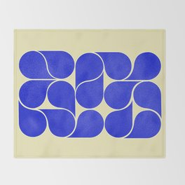 Blue mid-century shapes no8 Throw Blanket