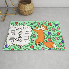 Spring In Your Step Fox Rug