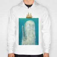 new york skyline Hoodies featuring The Whale  by Terry Fan