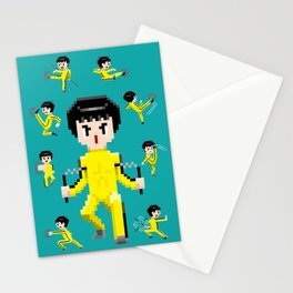 Pixelated Kung-Fu master. Stationery Cards