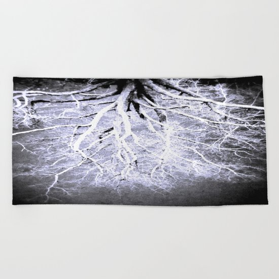 passage to hades color drained gray Beach Towel