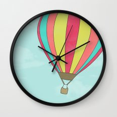 IT'S TIME TO EXPLORE- HOT AIR BALLOON Wall Clock