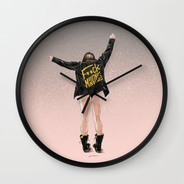 Fuck Mondays Wall Clock
