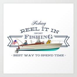 fishing tee Art Print