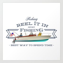 fishing tee Art Print