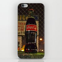 coke iPhone & iPod Skins featuring Nighttime Coke by Vorona Photography