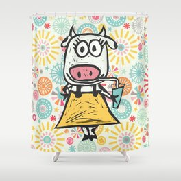 Jazzy Cow Shower Curtain