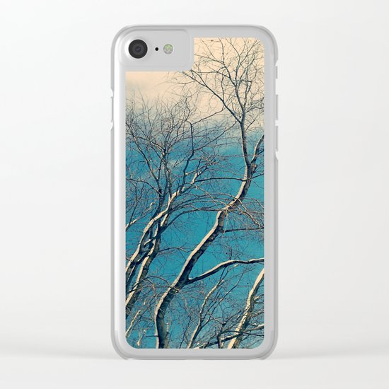 Winter Blue Clear iPhone Case