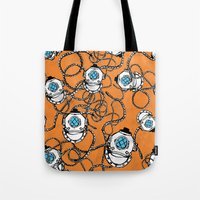 scuba Tote Bags featuring Scuba Squad by Marc Weiss Designs
