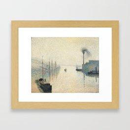 """Camille Pissarro """"L'Île Lacroix, Rouen (The Effect of Fog)"""" Framed Art Print"""