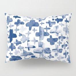 Navy Blue Crosses Pillow Sham