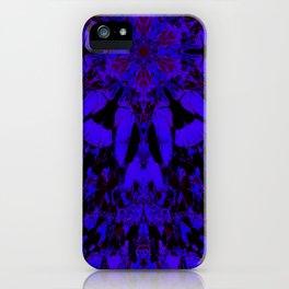 Mandala Gingko Dark Blue iPhone Case