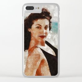 Ava Gardner, Vintage Actress Clear iPhone Case