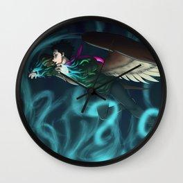 Holding the Aurora Wall Clock
