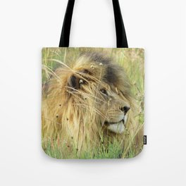 Leo Panthera African lion Tote Bag