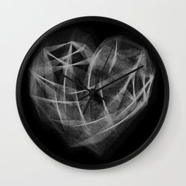 Coração Transcrito 3 Wall Clock