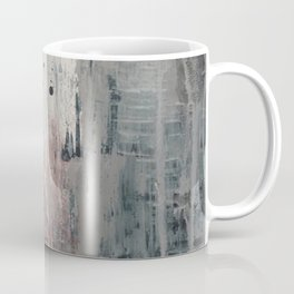 S'il Vous Plait: an abstract mixed-media piece in blue, gray, and gold by Alyssa Hamilton Art Coffee Mug