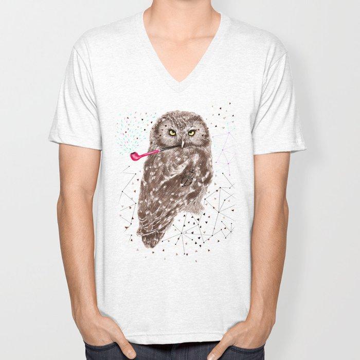 Mr.Owl III Unisex V-Neck
