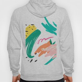 Summer colors brushstrokes abstract composition Hoody